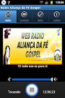 Screenshot of Rádio Aliança da Fé Gospel
