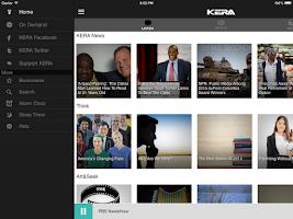 Screenshot of KERA Public Radio App
