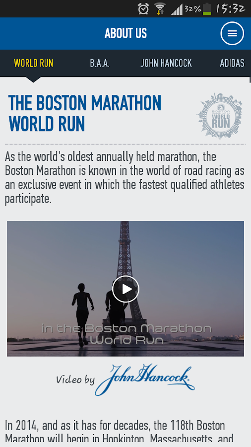 Boston Marathon World Run - screenshot