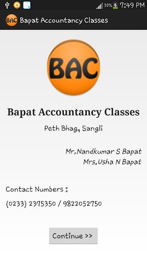 Bapat Accountancy Classes