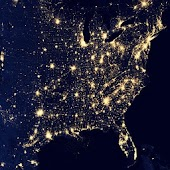 USA Earth At Night Wallpaper