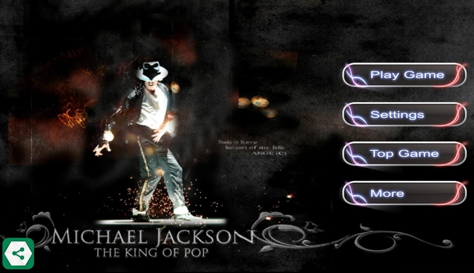 Dance games Michael Jackson - Android - 158.5KB