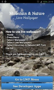 Mountain Nature Live Wallpaper - screenshot thumbnail