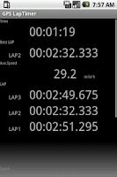 Screenshot of GPS LapTimer