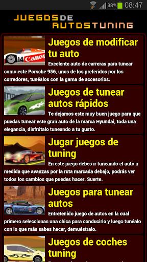 Juegos de autos tuning