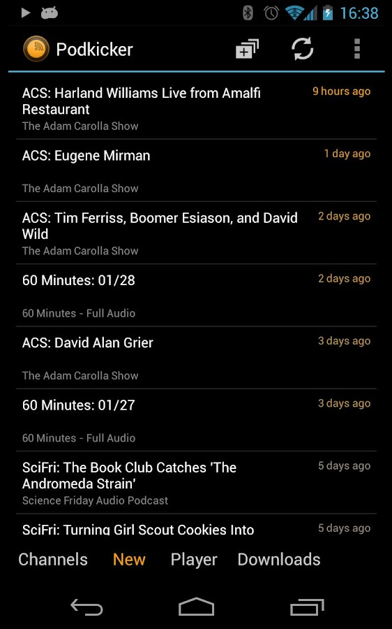 Podkicker Podcast Player - screenshot