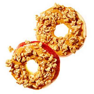 Crunchy Apple & Almond Butter Rounds