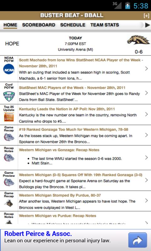 WMU Football & Basketball - screenshot