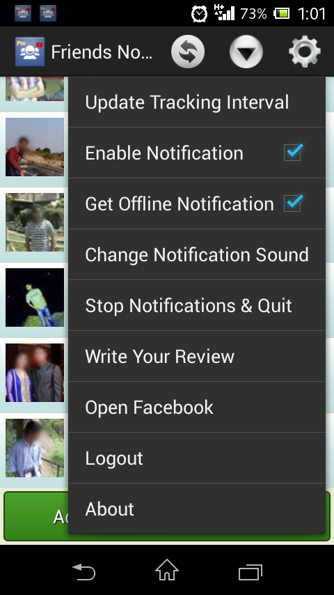 Online Notify For Facebook Pro - screenshot