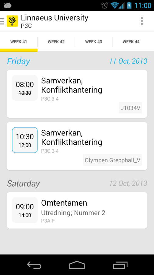 Uni-Schedule Lite- screenshot