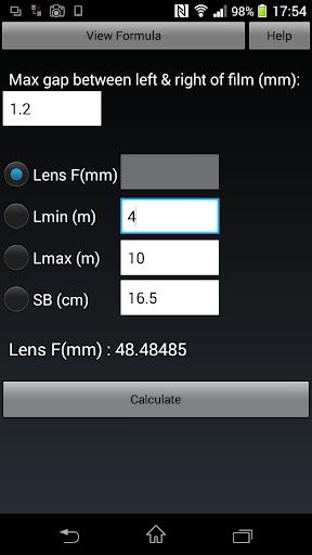 Stereo Base Calculator