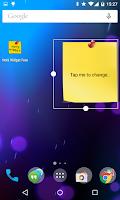 Screenshot of Note Widget