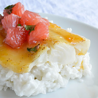 Grapefruit and Honey Glazed Baked Cod.