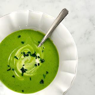 Green Garbanzo & Leek Soup.