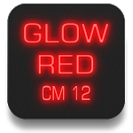 Glow Red CM12 Theme v3.3