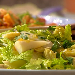 Hearts of cos, palm and artichoke with citrus dijon Dressing.