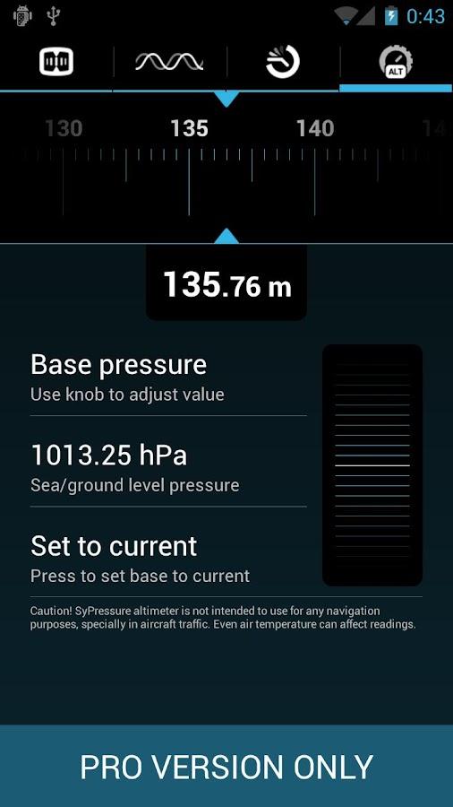 SyPressure Pro (Barometer)- screenshot
