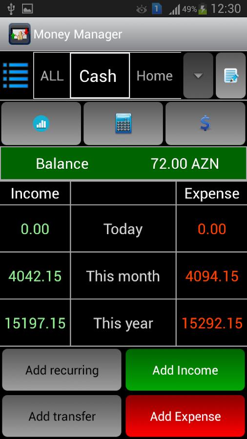 Money Manager- screenshot
