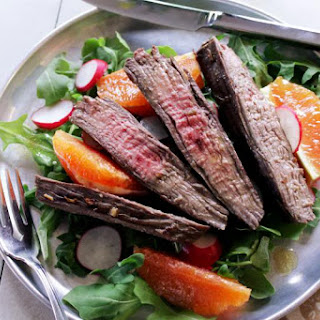 Spicy Steak Salad With Arugula And Oranges