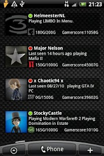 The Xbox Live Stats Widget - screenshot thumbnail