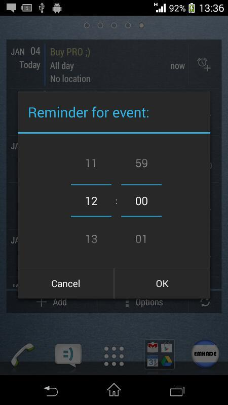 Calendar Widget KEY- screenshot