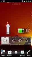 Screenshot of Candle battery widget