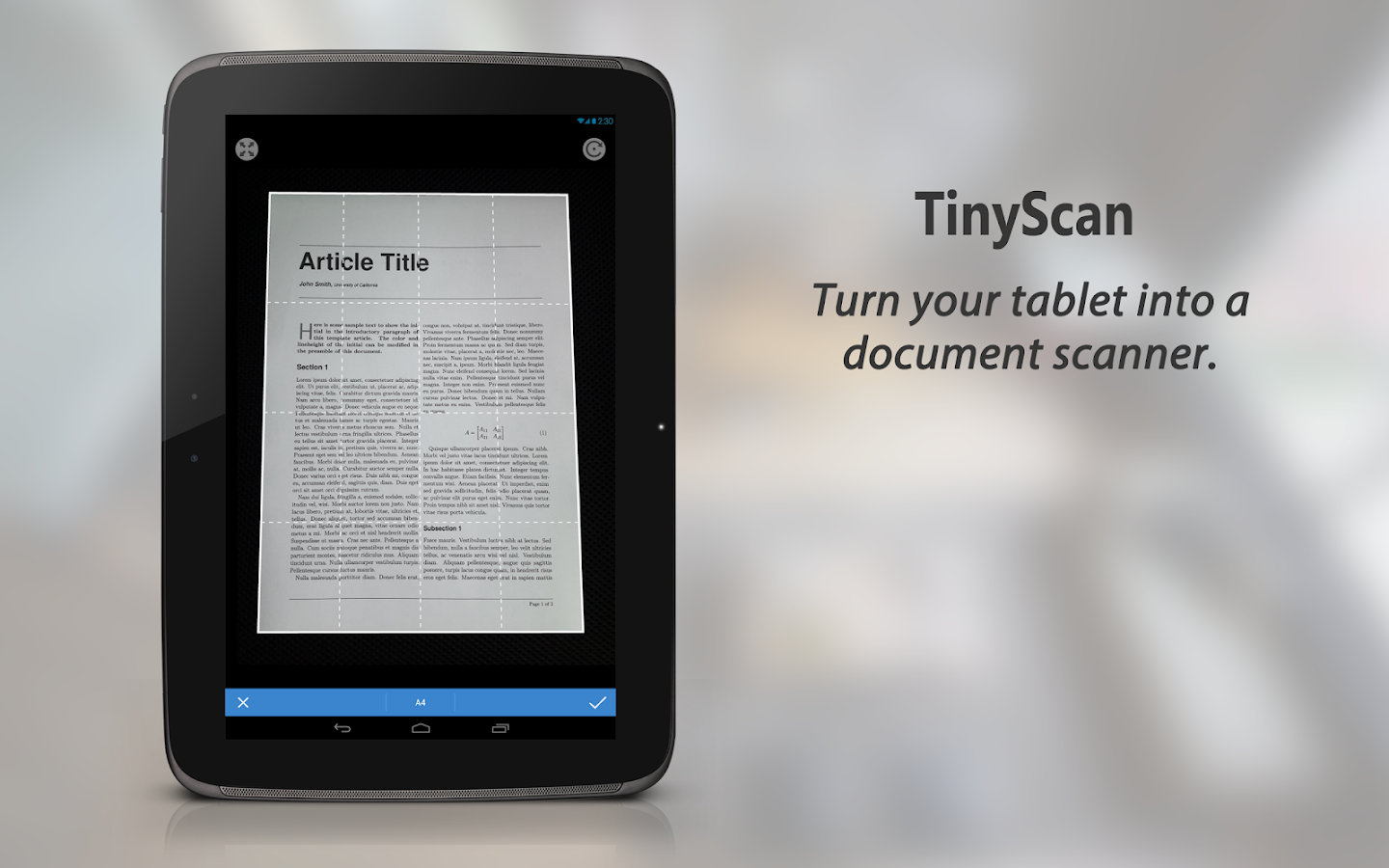 TinyScan: PDF Document Scanner - screenshot