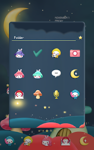 Togun(moon night)Dodol Theme screenshot 1