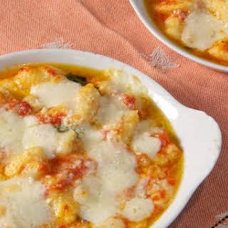 Gnocchi alla sorrentina (Potato Gnocchi with Tomato Sauce and Mozzarella).