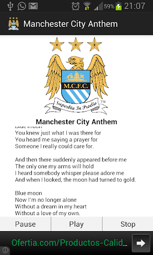 Manchester City Anthem