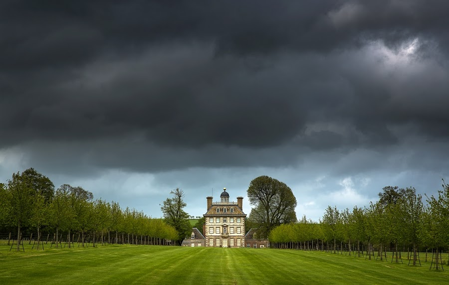 Ashdown house by Jaroslaw Tomczyk - Landscapes Cloud Formations ( clouds, uk, oxfordshire, house, landscape,  )
