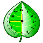 Leaf Clock widget