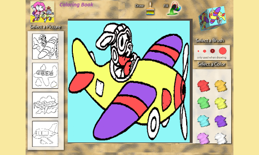 Coloring Book: Airplanes