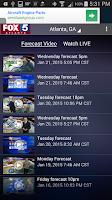 Screenshot of FOX 5 Storm Team
