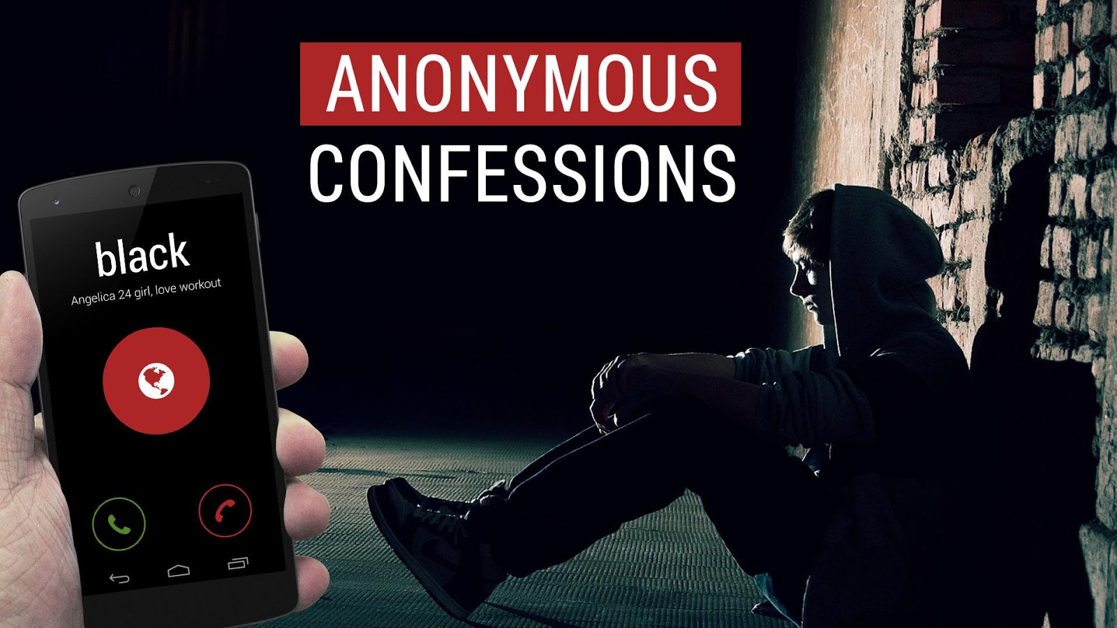 Black - anonymous calls, chat- screenshot