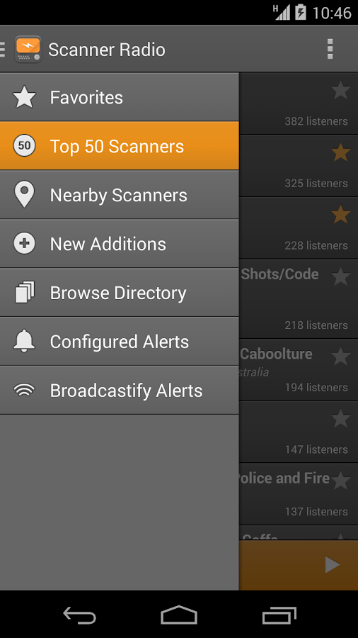 Scanner Radio - screenshot