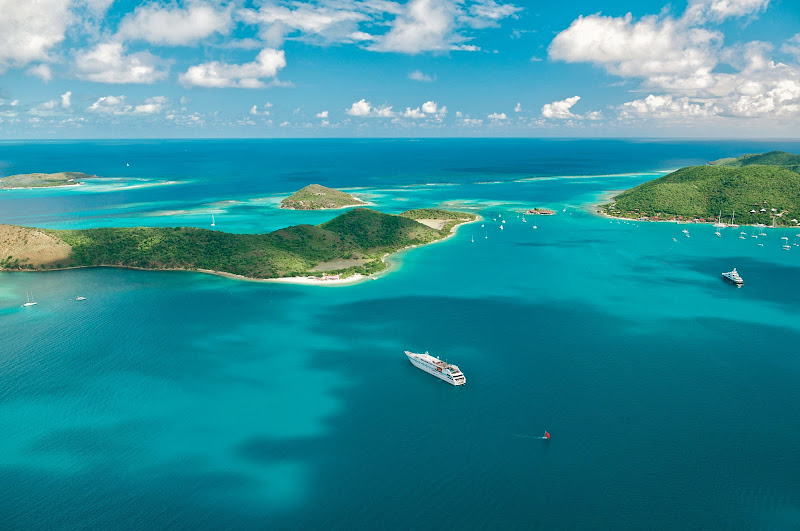 Tere Moana makes a stop in French Polynesia in the South Pacific. Her small footprint allows her to sidle up to smaller ports that larger ships simply cannot reach.