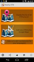 Screenshot of Nearby ATM (bank Locator)
