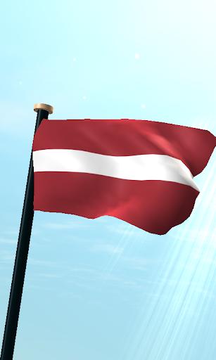 拉脫維亞旗3D動態桌布