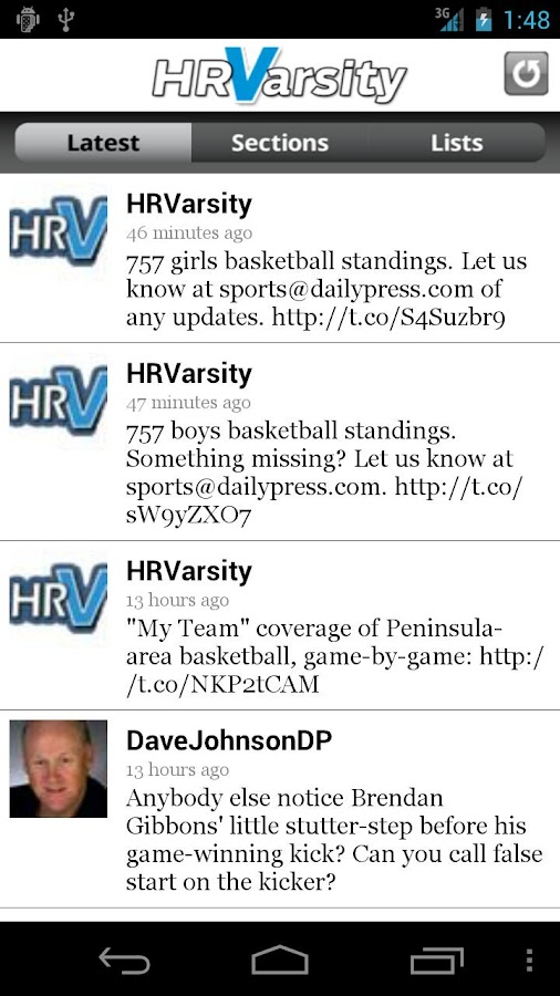 Hampton Roads Varsity - screenshot