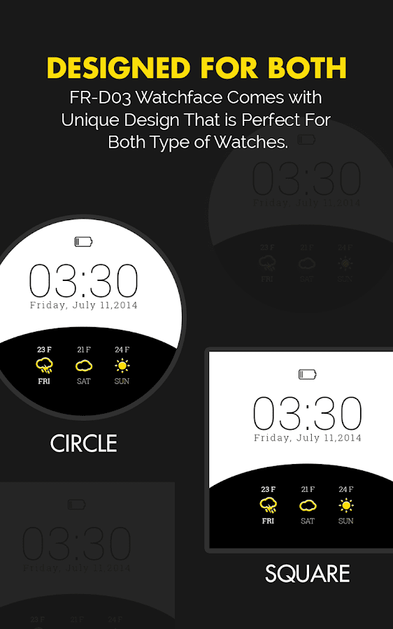 Weather Watch Face for Wear- screenshot