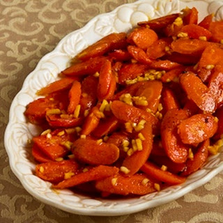 Roasted Red Curry Carrots with Ginger and Garlic (Christmas Carrots).