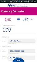 Screenshot of BFC Currency Converter