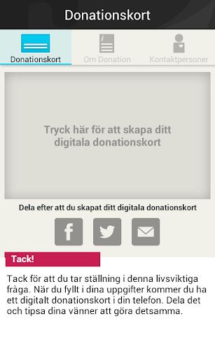 Digitalt Donationskort