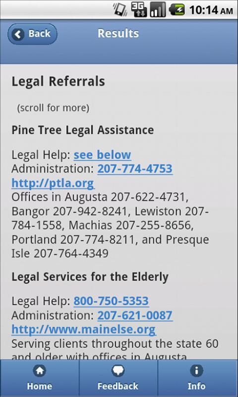 Legal Aid Finder- screenshot