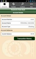 Screenshot of Waukesha State Bank Mobile