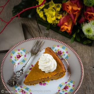 Crustless Low-Carb Pumpkin Pie.