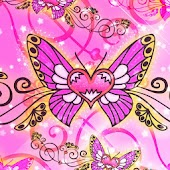 Amazing Butterfly pink 480x800