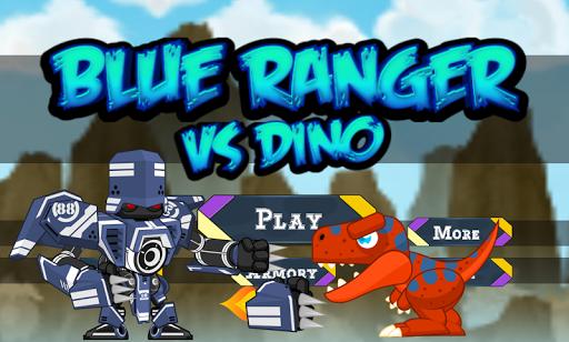 Dinosaur VS Blue Rangers Robot