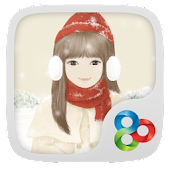 A winter day GO Launcher Theme